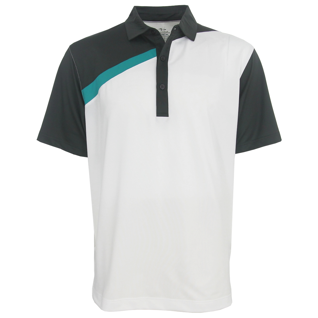Page Tuttle Cool Swing 3 Tone Polo Golf Shirt