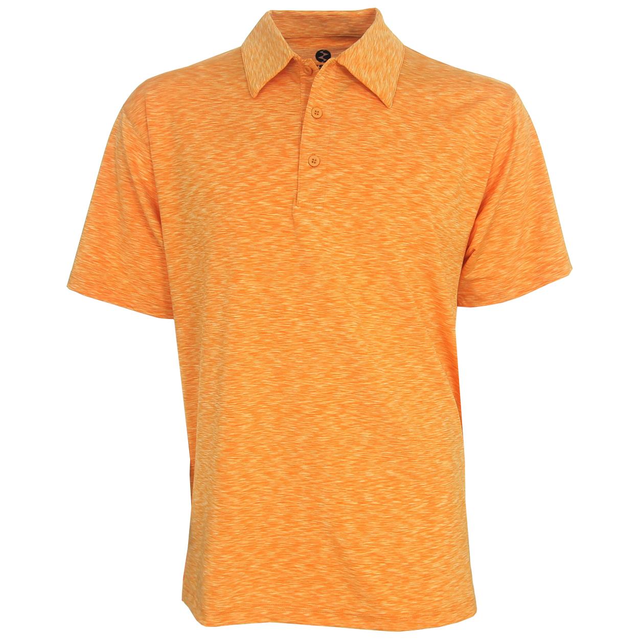 Ixspa space dye polo golf shirt for Name brand golf shirts