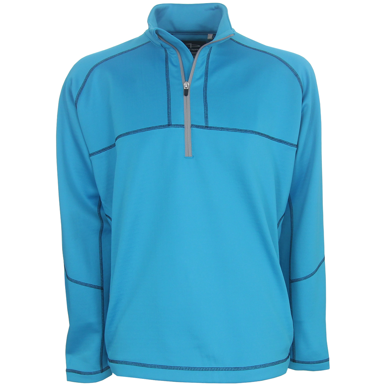 Page Tuttle Contrast Stitch 1 4 Zip Golf Pullover