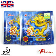 2 x Palio Hidden Dragon Table Tennis Bat Rubbers 36-38