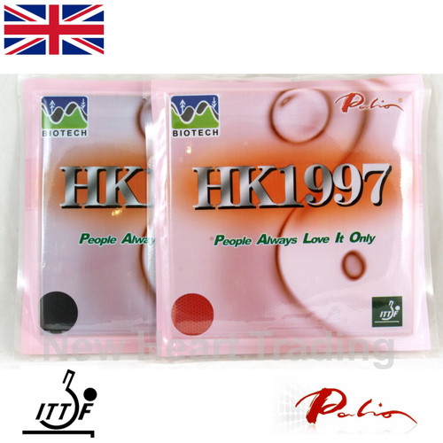 Pair of Palio HK1997 Table Tennis BioTech Rubbers 36-38 2.2mm