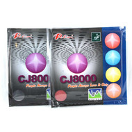 Pair of Palio CJ8000 Table Tennis Bat Rubbers BIOTECH Long Last Two Side Loop 36-38 1 x red + 1 x black