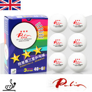 Palio 3 Star Table Tennis Balls Pack of 6