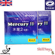 2 x Yinhe Mercury II Table Tennis Bat Rubbers SOFT  one red + one black rubber