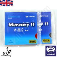 2 x Yinhe Mercury II Table Tennis Bat Rubbers MEDIUM