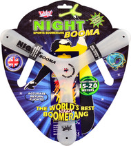 Wicked Night Booma glow in the dark boomerang. Great fun!