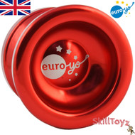 Euro-Yo Spirit advanced trick unresponsive ball bearing aluminium Yo-Yo - red