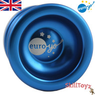 Euro-Yo Spirit advanced trick unresponsive ball bearing aluminum Yo-Yo - blue