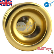 Euro-Yo Spirit advanced trick unresponsive ball bearing aluminum Yo-Yo - gold