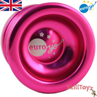 Euro-Yo Spirit advanced trick unresponsive ball bearing aluminum Yo-Yo - pink