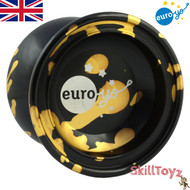 Euro-Yo Comet advanced trick unresponsive aluminium Yo-Yo - Black with gold splash