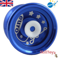 Euro-Yo Elite advanced trick hubstacked unresponsive aluminum Yo-Yo - Blue
