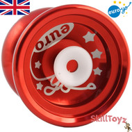 Euro-Yo Elite advanced trick hubstacked unresponsive aluminum Yo-Yo - red