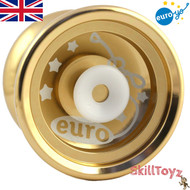 Euro-Yo Elite advanced trick hubstacked unresponsive aluminum Yo-Yo - gold