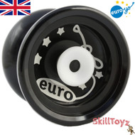 Euro-Yo Elite advanced trick hubstacked unresponsive aluminum Yo-Yo - Black