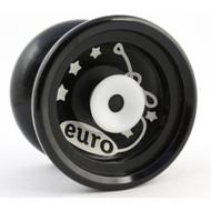 Euro-Yo Elite advanced trick hubstacked unresponsive aluminum Yo-Yo - Black