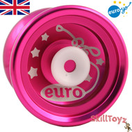 Euro-Yo Elite advanced trick hubstacked unresponsive aluminum Yo-Yo - pink