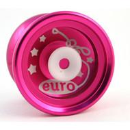 Euro-Yo Elite advanced trick hubstacked unresponsive aluminum Yo-Yo - pink