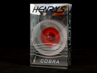 Henrys Cobra Ice rims with a translucent red hub