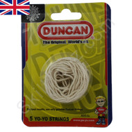 P~ack of 5 Genuine Duncan yo-yo strings WHITE
