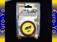 Duncan Hayabusa Yo-yo Pink body, yellow pogs with black rims