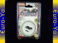 Duncan Hayabusa Yo-yo White body, white pogs with grey rims