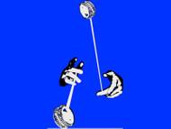 Looping Hands Yo-Yo T-Shirt Blue Medium
