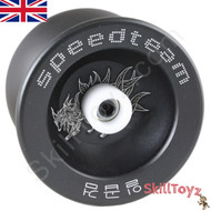 "Buy the Speed Team ""Nine Tail Beast"" black Metal Pro Yo-Yo at skilltoyz.com online yoyo shop"