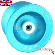"Buy the Speed Team ""Wolf"" blue Metal pro Yo-Yo at skilltoyz.com"