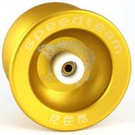 "Speed Team ""Golden Wolf"" Metal Yo-Yo with Yoyo Pouch - Gold"