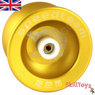 "Buy the Speed Team ""Golden Wolf"" Gold Metal Pro Yo-Yo at skilltoyz.com online yoyo shop"