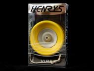 Henrys New Viper AXYS Rubber-Shelled Yoyo - Yellow