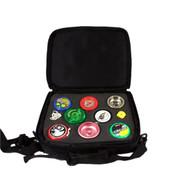 Euro-Yo Yo-Yo Bag Black Zipped holds 8 yoyos.