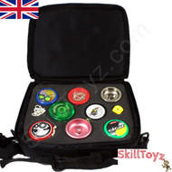 Euro-Yo Yo-Yo Bag Black Zipped holds 8 yoyos.