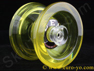Duoman Gem translucent hub-stacked plastic Yo-Yo with a concave bearing - yellow
