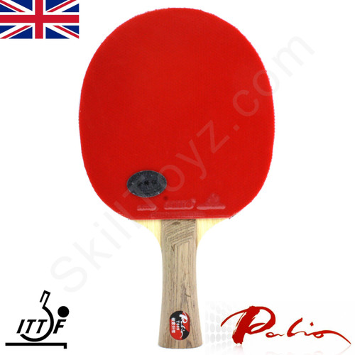 Palio T009 Table Tennis Bat with case. Superior quality Palio T009 blade coupled with CJ8000 ITTF approved rubbers.