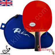 Palio 3 Star Professional Table Tennis Bat with case fitted with Palio AK47 Biotech rubbers