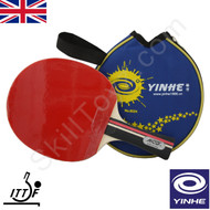 Yinhe Sports Table Tennis Bat. Racket model number 01B. Complete with blue case.