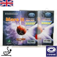2 x Yinhe Mars 2 Table Tennis Bat Rubbers Medium Hardness