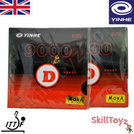 Yinhe 9000 D Table Soft hardness Tennis Bat Rubbers showing front of packets. Price is for two rubbers, One red one black.