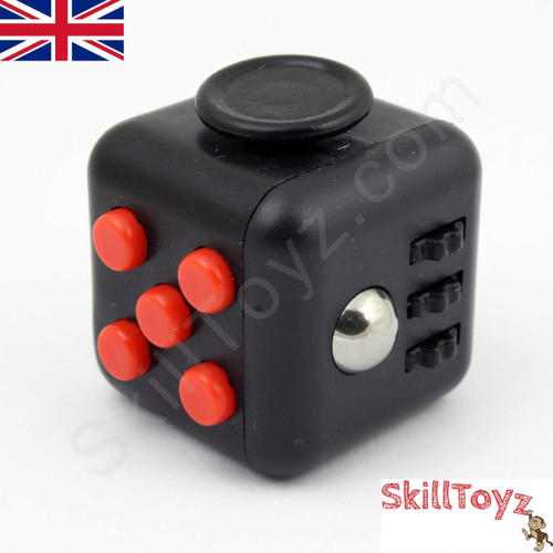 Fidget Cube - Six sides – six functions – endless fidgeting! Colour: Black and red
