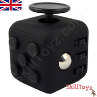 Premium Edition Fidget Cube featuring a larger body and soft touch rubberised finish. Black.