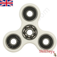 Shown with finger-pads removed from the Si3N4 ceramic centre bearing. A spinner is a fingertip gyroscope, and is a popular fidget toy.