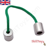 Simple Aluminium begleri from Greece, supplied ready assembled with Green cord..