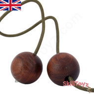 SkillToyz Chinese Cherry wooden Begleri with brown type 275 Paracord.
