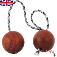 SkillToyz Padauk wood Begleri with grey camo type 275 Paracord.