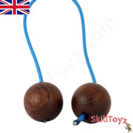 SkillToyz Chinese Cherry wooden Begleri with blue type 275 Paracord.