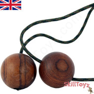 SkillToyz Chinese Cherry wooden Begleri with brown camo style type 275 Paracord.