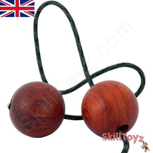 SkillToyz Padauk wood Begleri with brown camo type 275 Paracord.