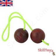 SkillToyz Padauk wood Begleri with neon green type 275 Paracord.